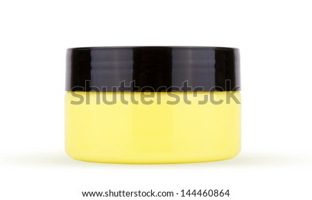 Bottle of cosmetic cream on white background. - stock photo