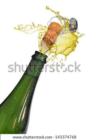 bottle of it digs or champagne - stock photo