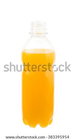 bottle of juice isolated on white background - stock photo