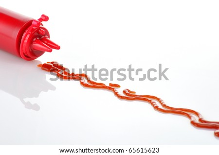 Bottle of Ketchup - stock photo
