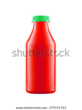 Bottle of Ketchup isolated on white background