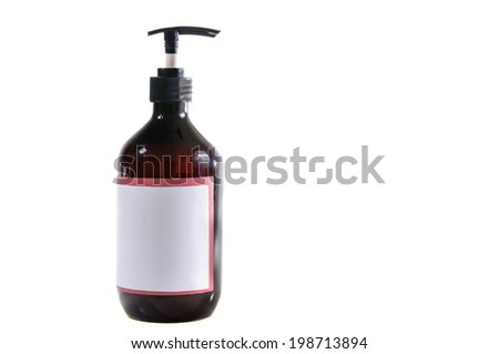 Bottle of Lotion Place your own label /photo and text