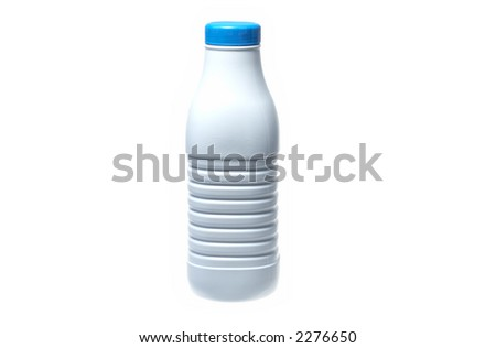 Bottle of milk (with clipping-path)