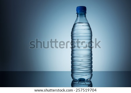 Bottle of mineral water - stock photo