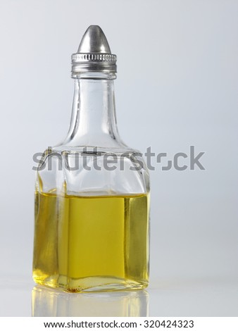 bottle of oil on the white background