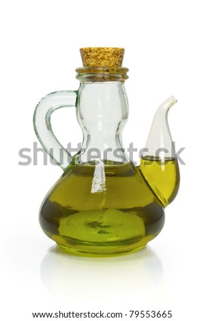 Bottle of olive oil - stock photo