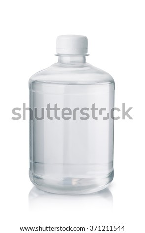 Bottle of paint thinner isolated on white - stock photo