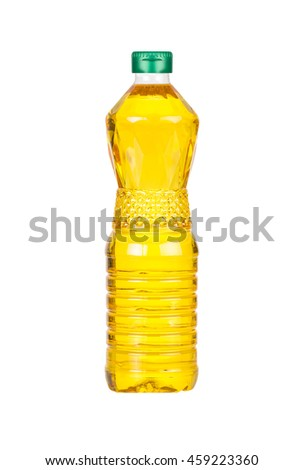 Bottle of Palm kernel Cooking Oil, isolated on white background