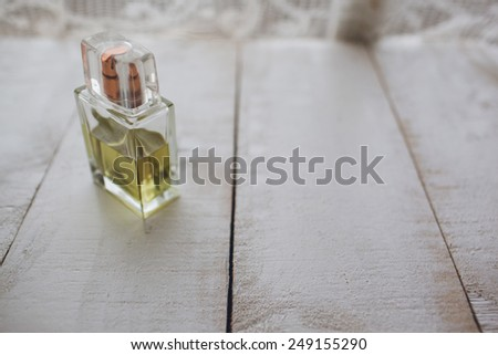 bottle of perfume - stock photo