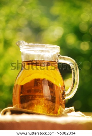 bottle of pure fresh olive oil - stock photo
