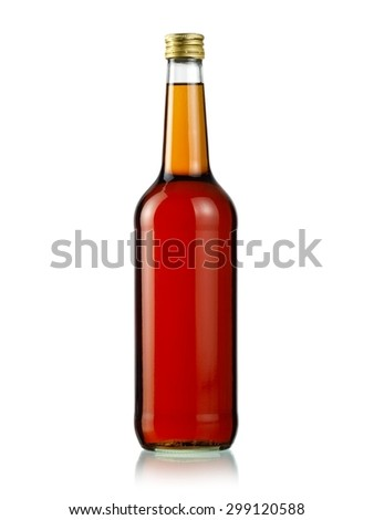 Bottle of rum - stock photo