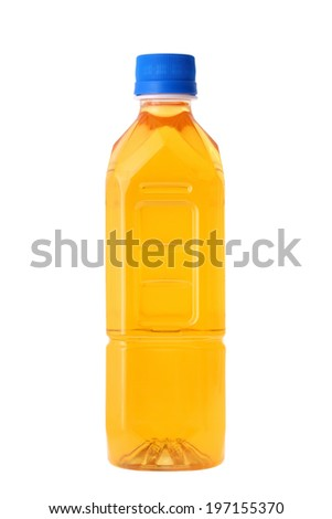 Bottle of tea isolated on white background  - stock photo