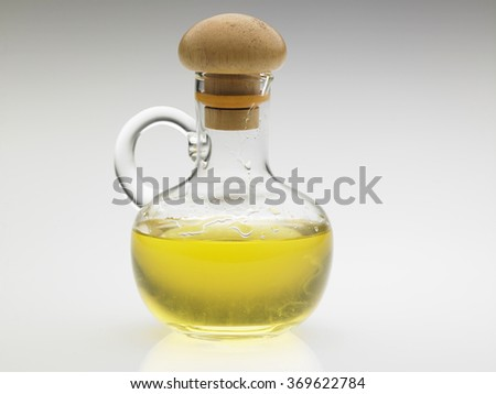 bottle of the oil on the white background