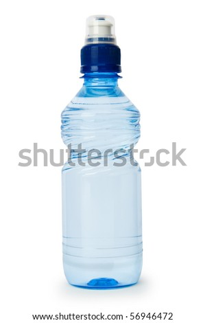 Bottle of water isolated on the white background