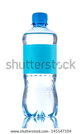 Bottle of water isolated on white - stock photo
