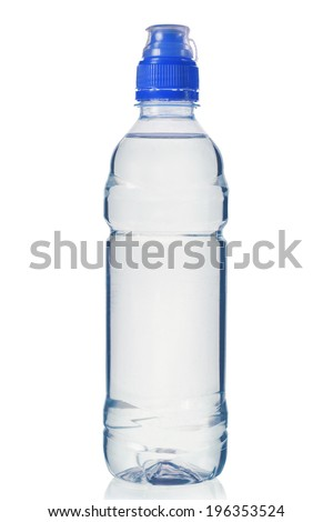 Bottle of water isolated on white background