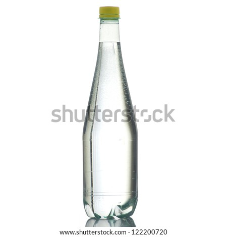 Bottle of water on high definition on a white background - stock photo