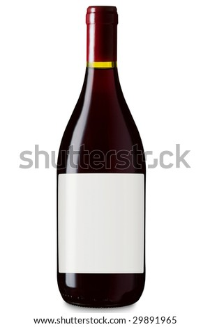 Bottle Of win With Label
