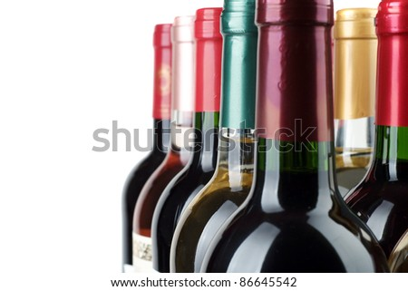 Bottle of wine - stock photo