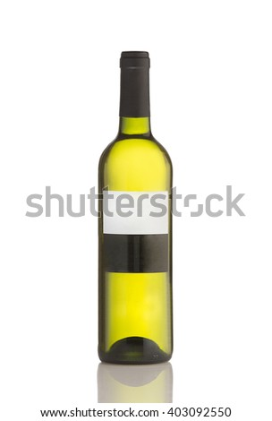 bottle of wine isolated  - stock photo