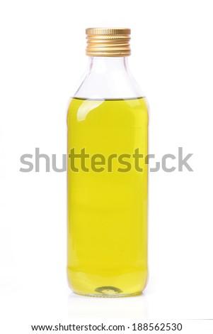 Bottle olive oil - stock photo