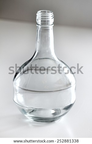 bottle on the white background