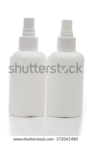 bottle on the white background - stock photo