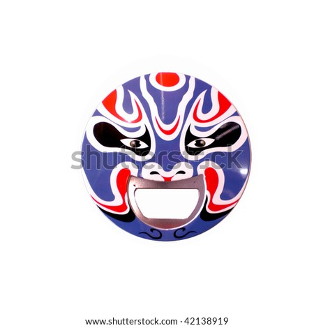 Bottle Opener with Peking Opera Face Art Pattern - stock photo