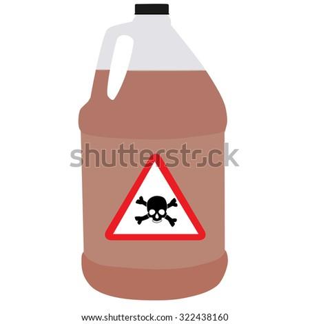 Bottle raster, biohazard symbol, toxic symbol, biochemical - stock photo