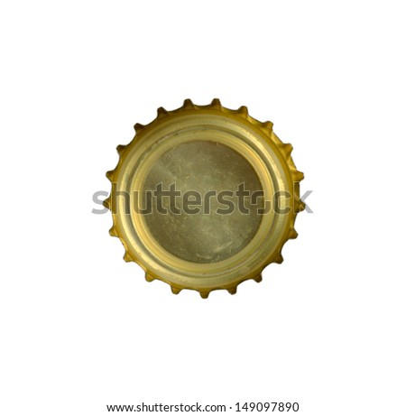 bottle stopper close up isolated on a white background