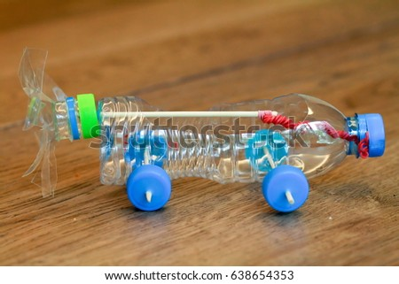 how to make a water bottle car