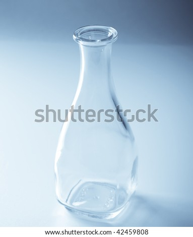 bottle water blue glass drink