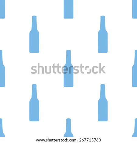 Bottle white and blue seamless pattern for web design