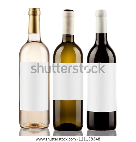 Bottle wine - stock photo