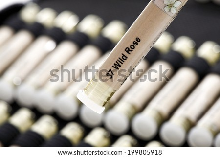 Bottle with Bach Flower Stock Remedy - stock photo