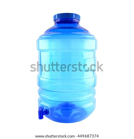 Bottle with clean water, isolated on white