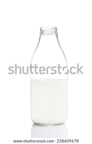 Bottle with milk - stock photo