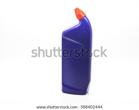 bottle with red cap - stock photo