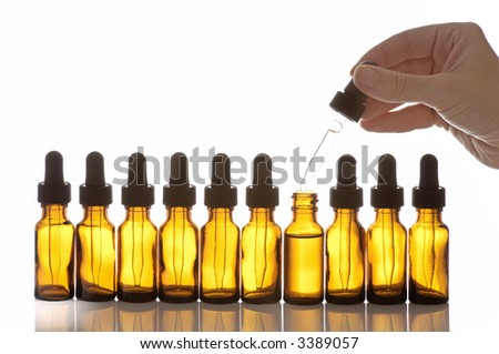 Bottles for Science - stock photo