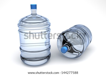 Bottles for Water cooler To Office - stock photo