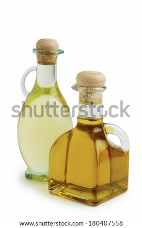 bottles of corn and olive oils