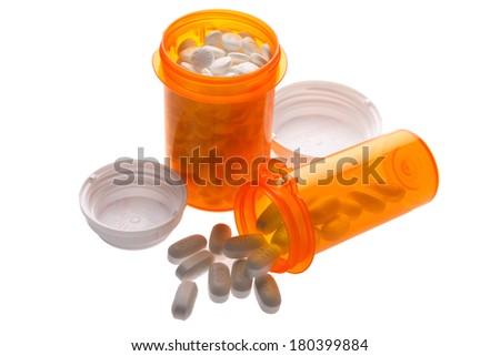 Bottles of Medication - stock photo