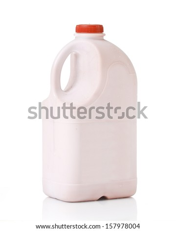 Bottles of Milk chocolate  on Isolated White Background.