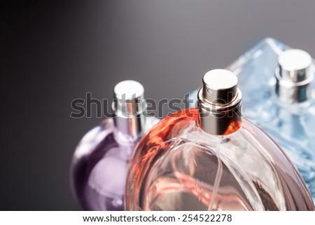 Bottles of perfumes - stock photo