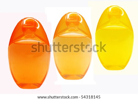 bottles of shampoo and shower gel - stock photo