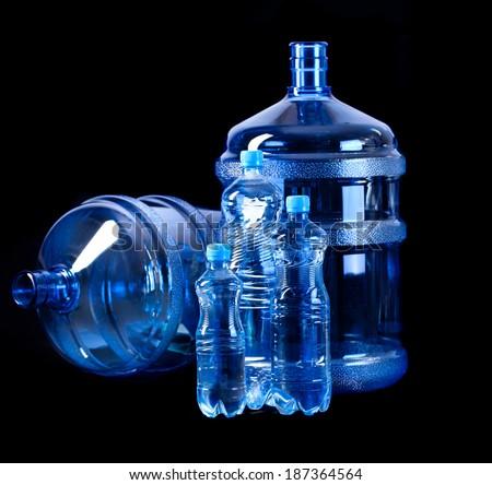 Bottles of water - stock photo