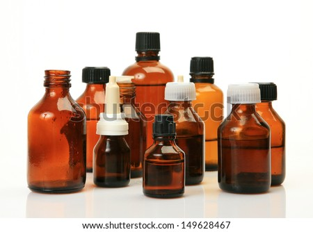 Bottles with a medicine
