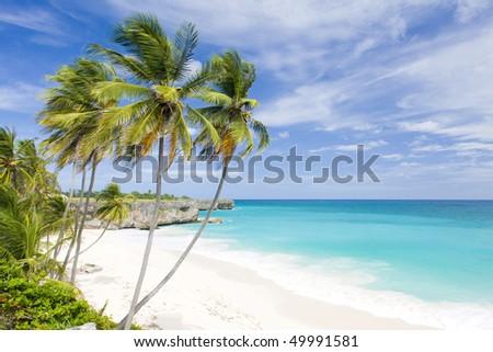 Bottom Bay; Barbados; Caribbean - stock photo