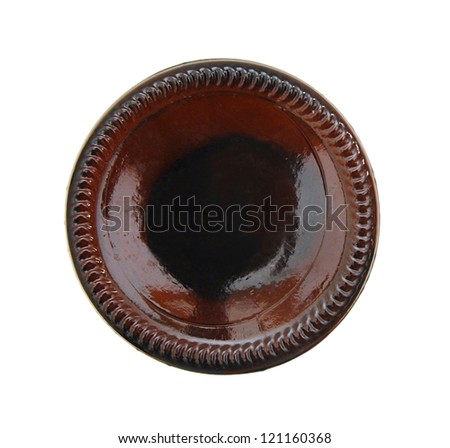 bottom of a beer bottle - stock photo