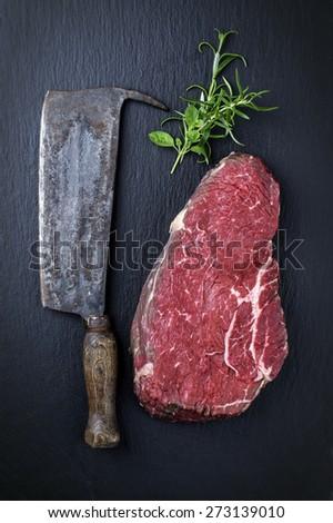 Bottom Round Steak - stock photo